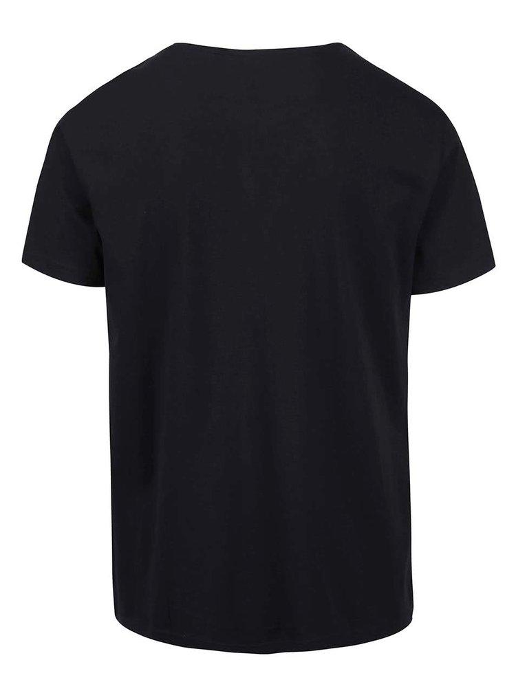 Čierne pánske tričko s potlačou Broadway Bennie