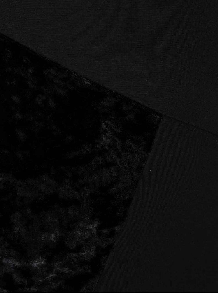 Rochie neagra Quontum cu insertii asimetrice