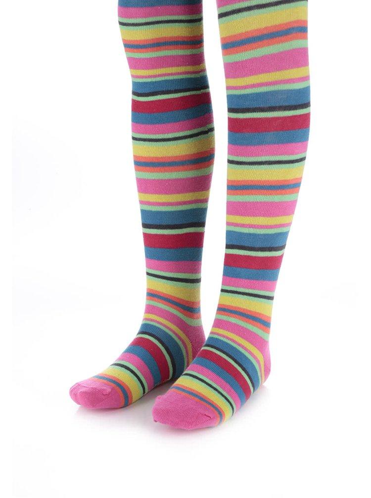 Farebné dievčenské pančuchy s pruhmi Bóboli