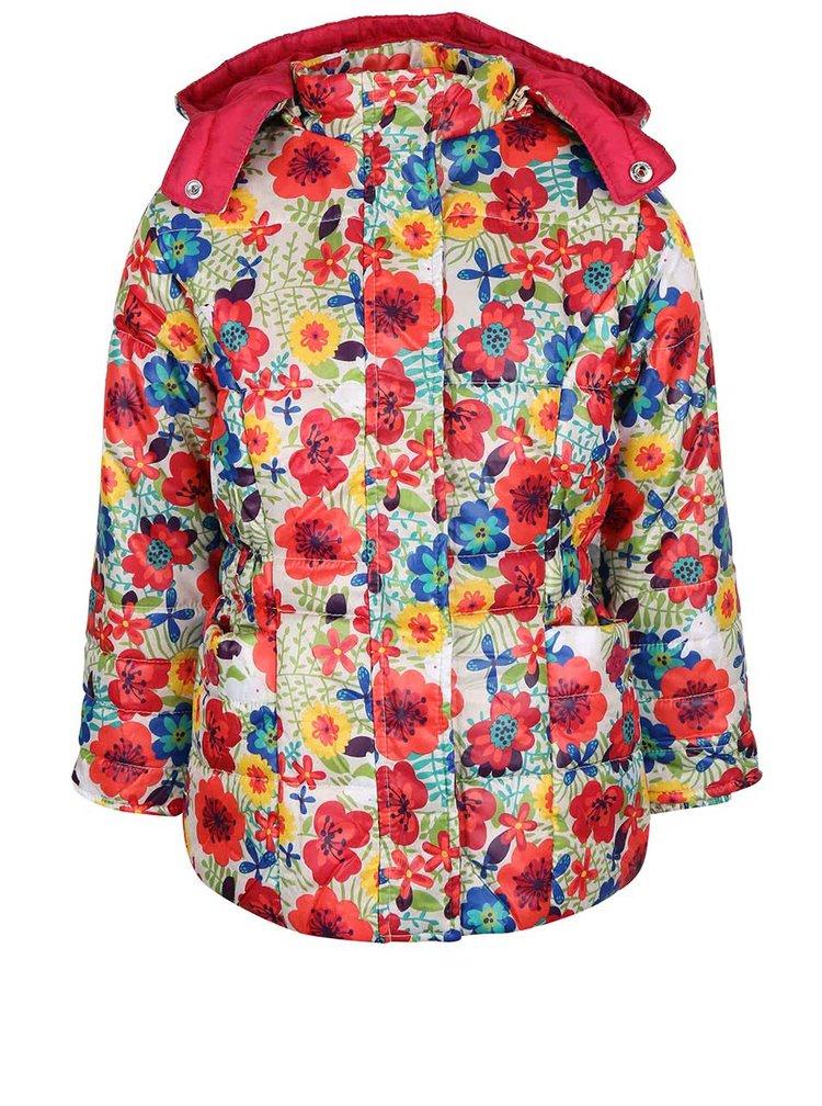 Krémová dievčenská bunda s kapucňou Bóboli