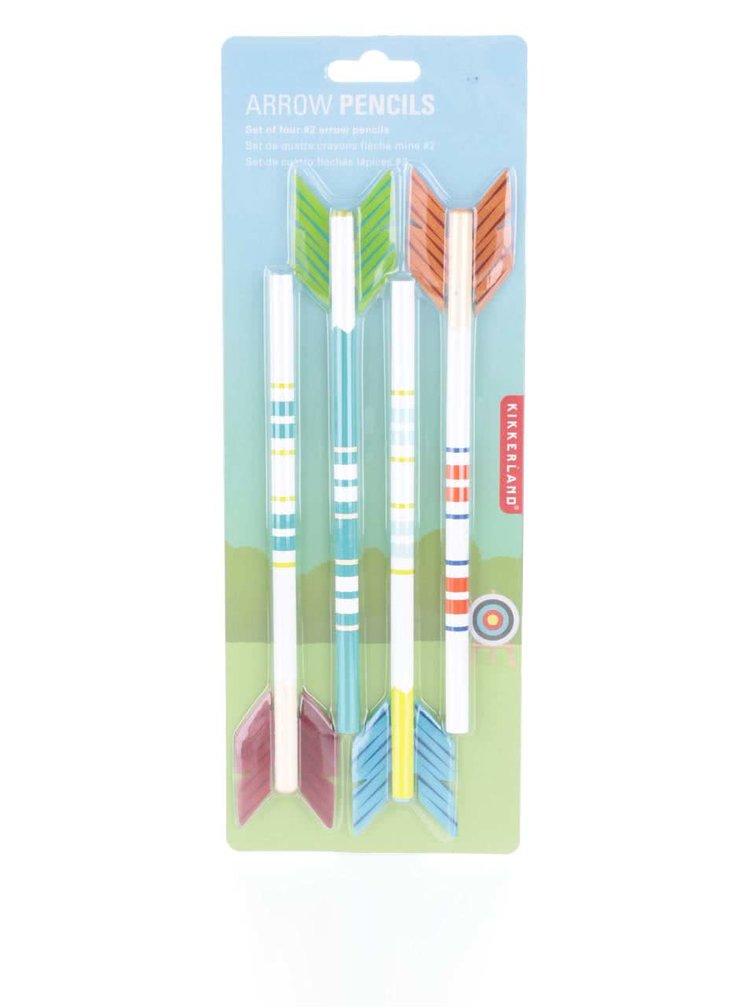 Set de 4 creioane Kikkerland în formă de săgeată