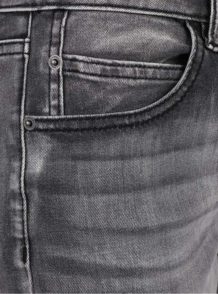 Tmavě šedé dámské skinny džíny s vyšisovaným efektem Broadway Jane
