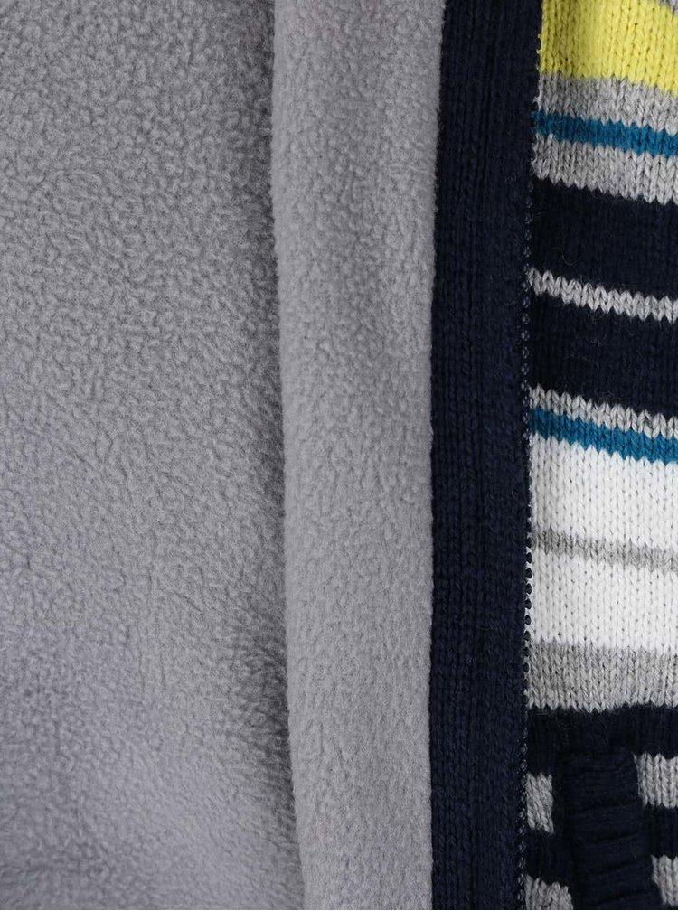Pruhovaný chlapčenský sveter na zips Bóboli