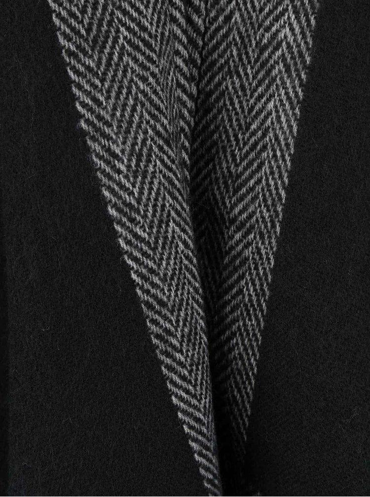 Sivo-čierne dámske pončo Broadway Neema