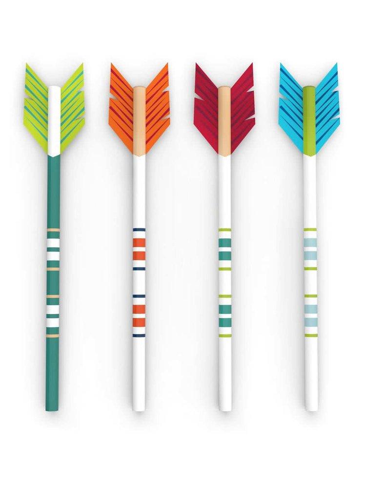 Súprava štyroch ceruziek v tvare šípiek Kikkerland