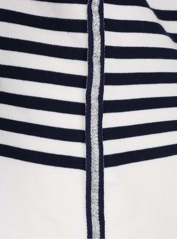 Krémovo-modré dámské pruhované tričko Tom Joule Harbour