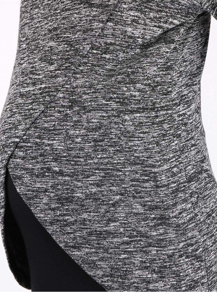 Čierno-sivý melírovaný ľahký tehotenský sveter Mama.licious Wram