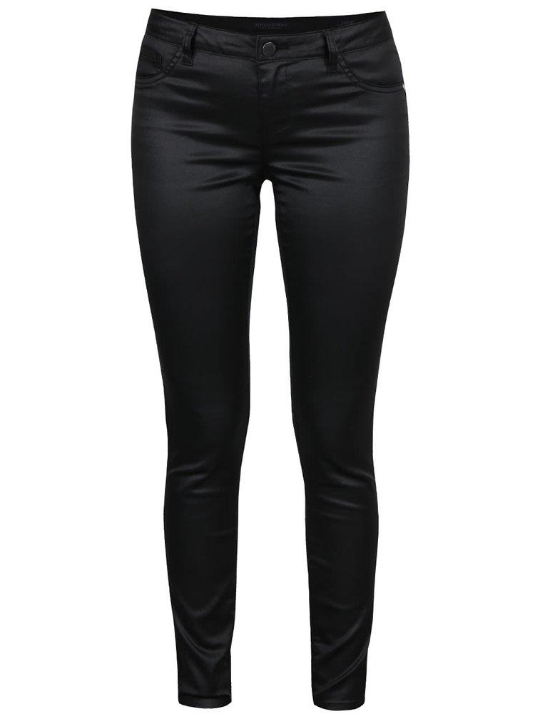 Černé dámské lesklé skinny kalhoty Broadway Jane