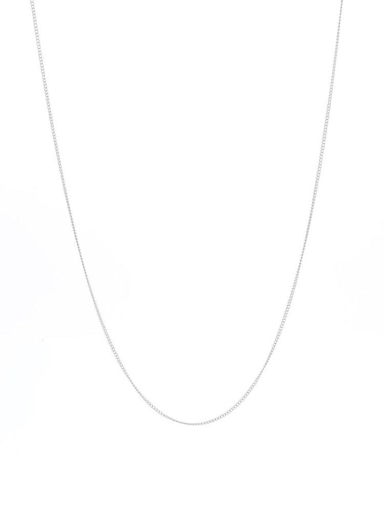 Dlhý náhrdelník v striebornej farbe s okrúhlym príveskom Pieces Line