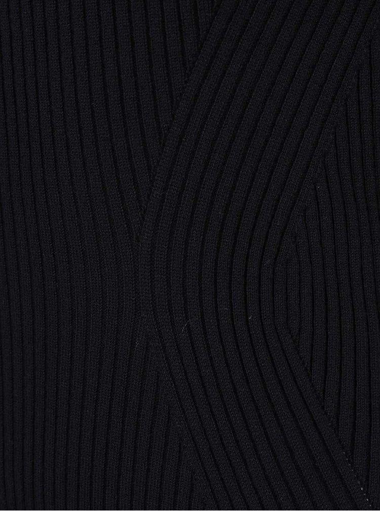 Černý delší svetr s odhalenými rameny TALLY WEiJL