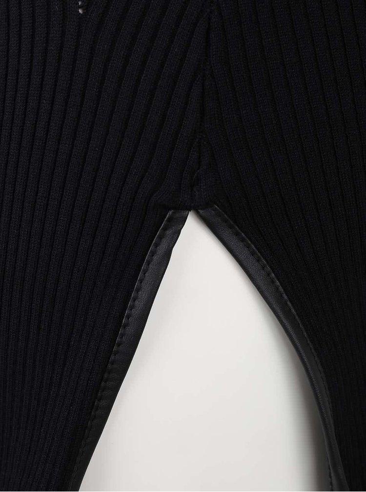 Čierny dlhší sveter s odhalenými ramenami TALLY WEiJL