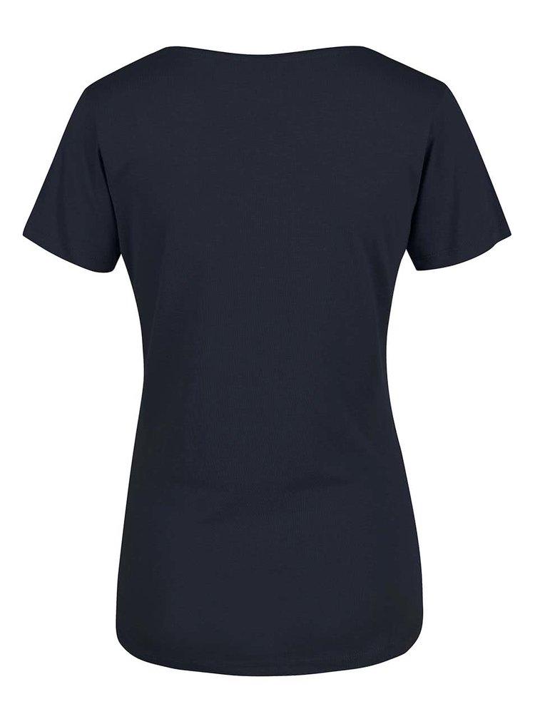 Modré dámské tričko s potiskem Broadway Betty