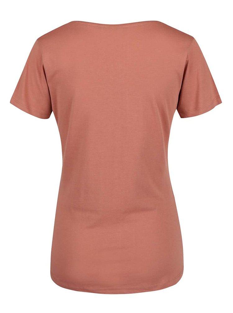Svetlohnedé dámske tričko s potlačou Broadway Betty