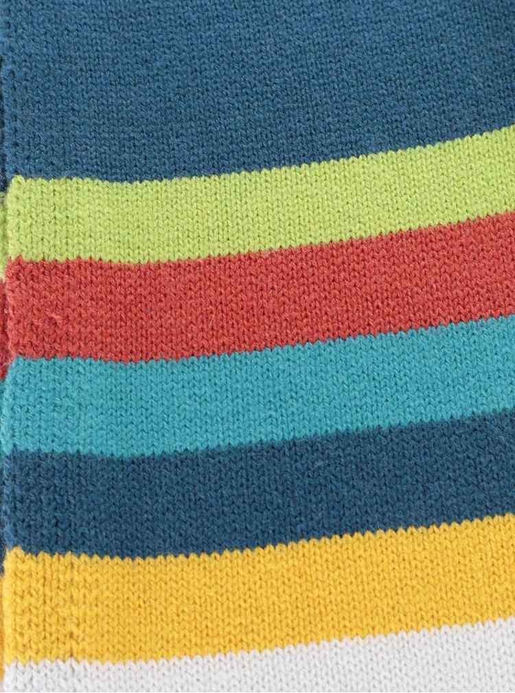 Modrá klučičí šála s barevnými pruhy Bóboli