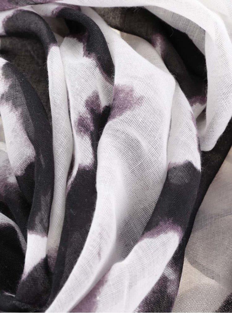 Fialovo-krémový dámský šátek Broadway Natalka