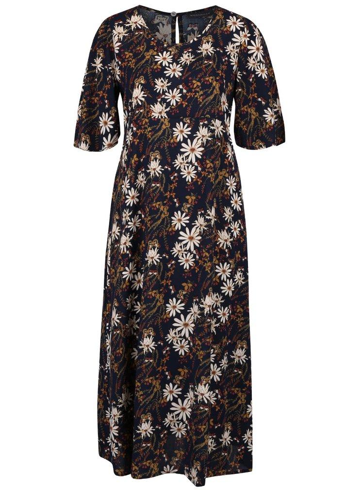 Tmavomodré kvetované šaty Broadway Ouida