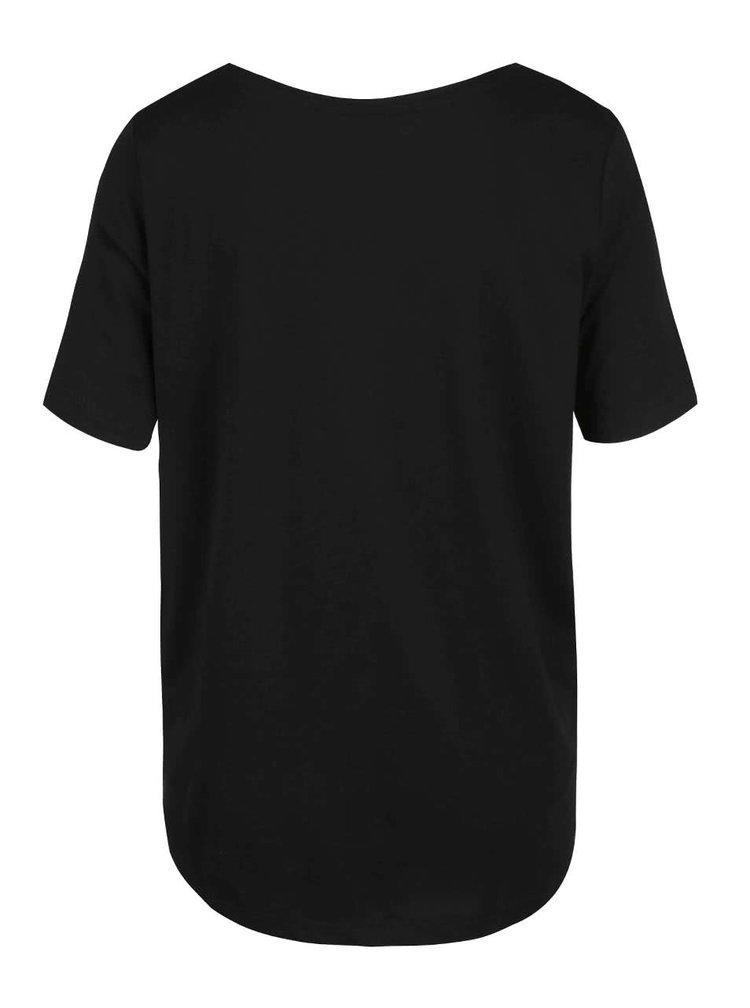 Černé dámské tričko s potiskem Broadway Rolande