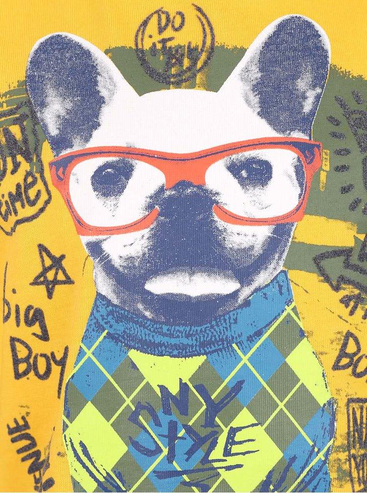 Bluza galbena cu imprimeu Boboli pentru baieti