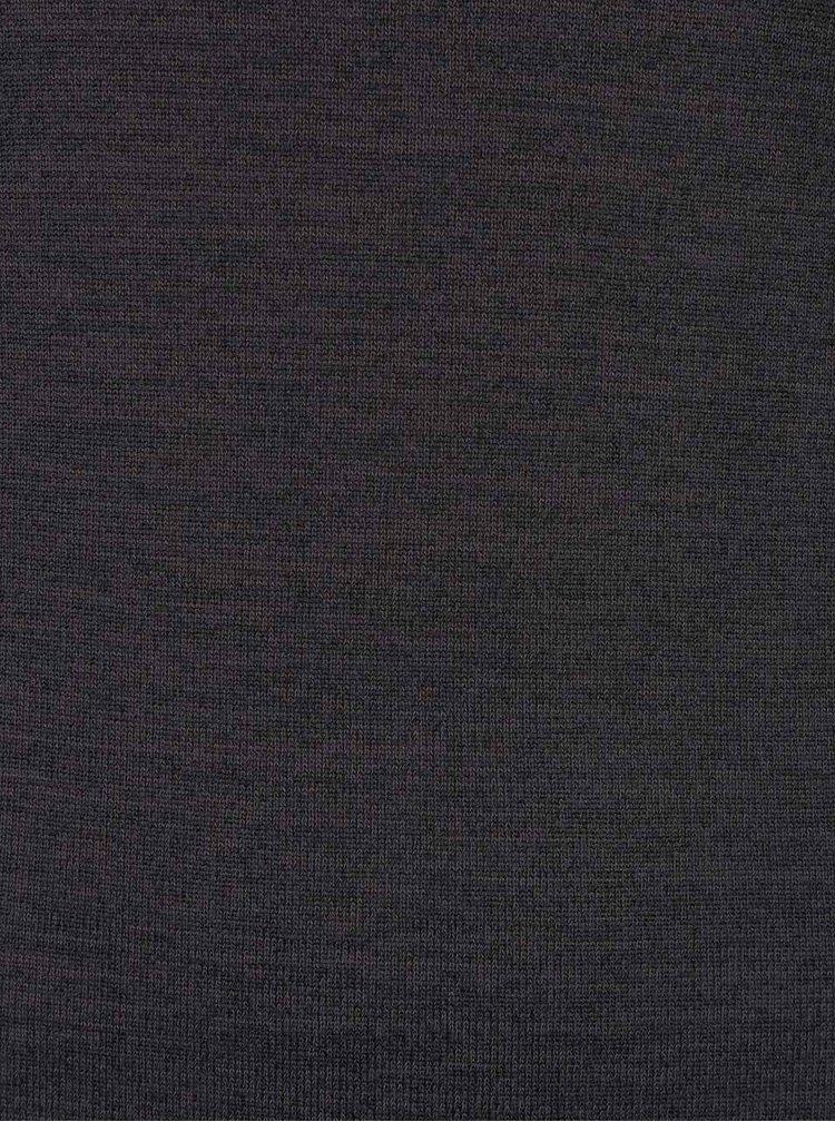 Tmavosivé melírované šaty so stojačikom Broadway Nyla