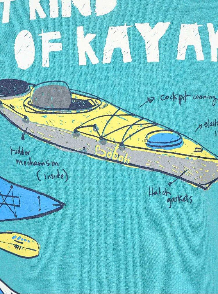 Zeleno-modré klučičí triko s kajaky Bóboli