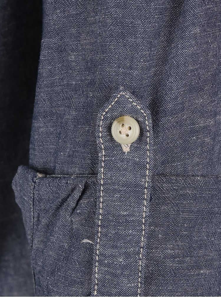 Tmavomodrá košeľa s rifľovým dizajnom Jack & Jones Arvin