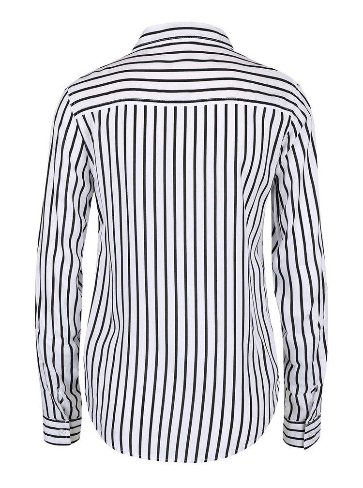 Čierno-biela pruhovaná košeľa s vreckami TALLY WEiJL