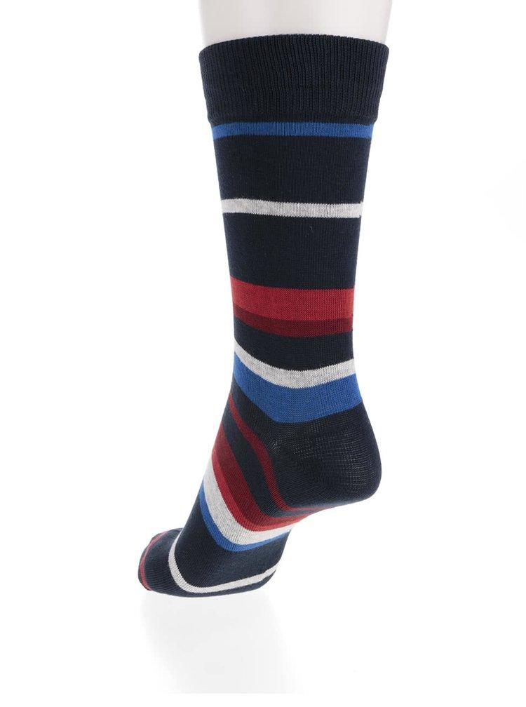 Súprava štyroch modrých a sivých vzorovaných ponožiek Jack & Jones Noah