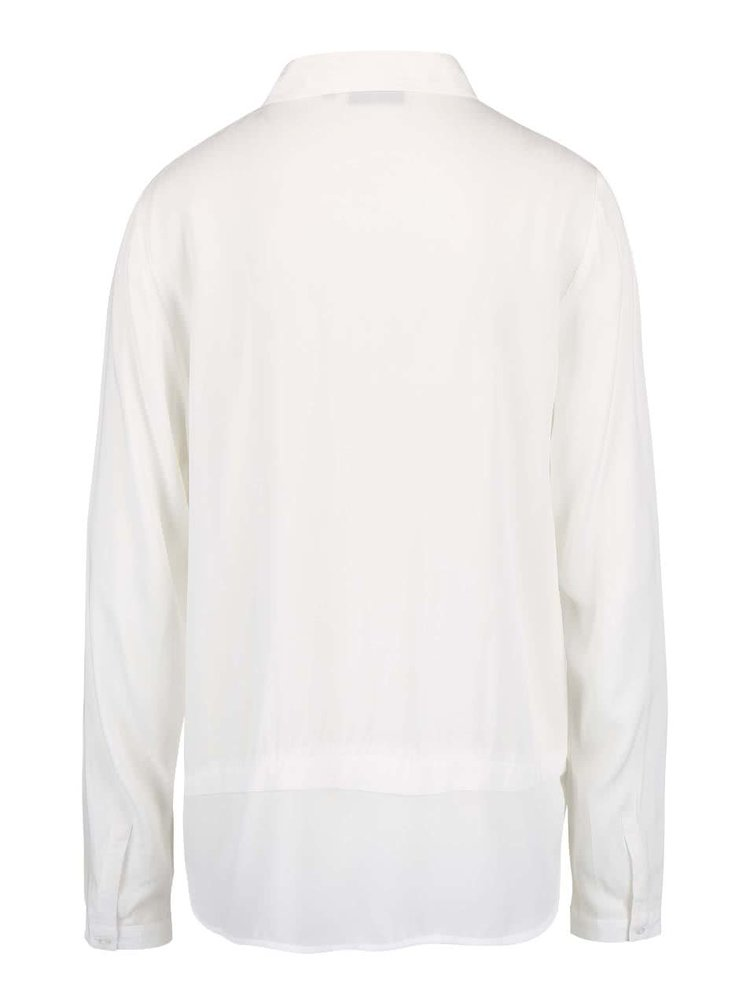 Krémová voľnejšia košeľa Broadway Necla