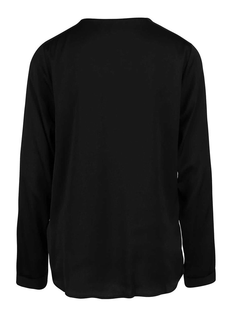 Bluza neagra Broadway Nadasia cu nasturi