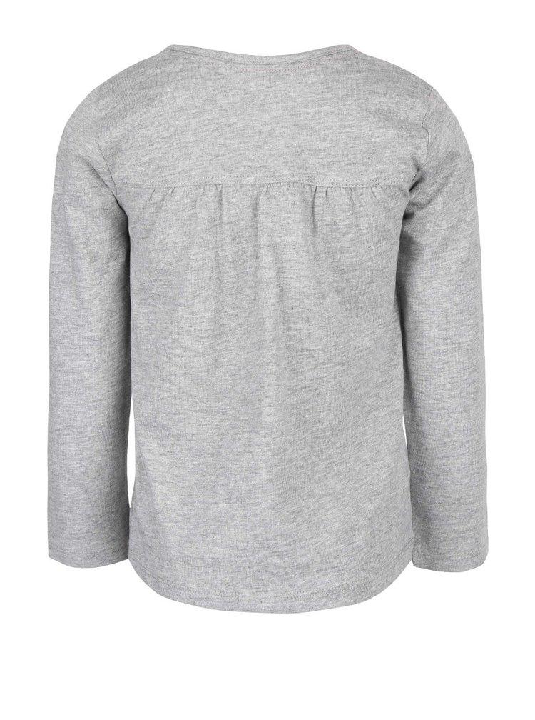 Bluză gri melanj cu imprimeu Boboli pentru fete