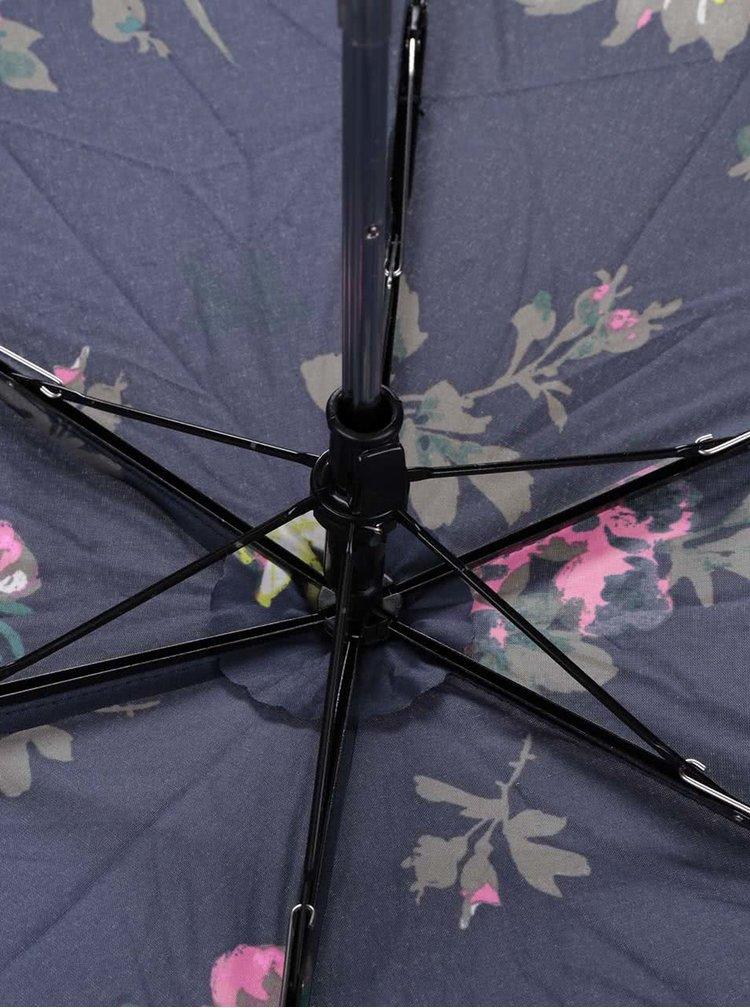 Umbrela pliabila albastra Tom Joule Brolly cu imprimeu floral