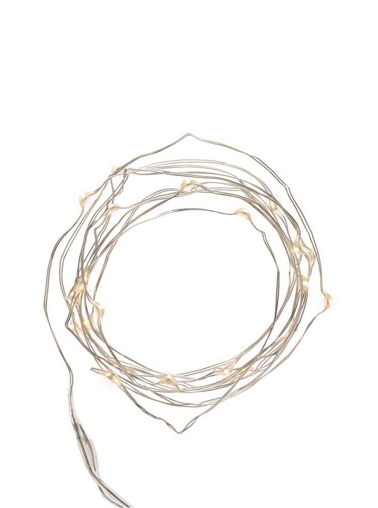 Instalatie argintie de lumini - Kikkerland Wire