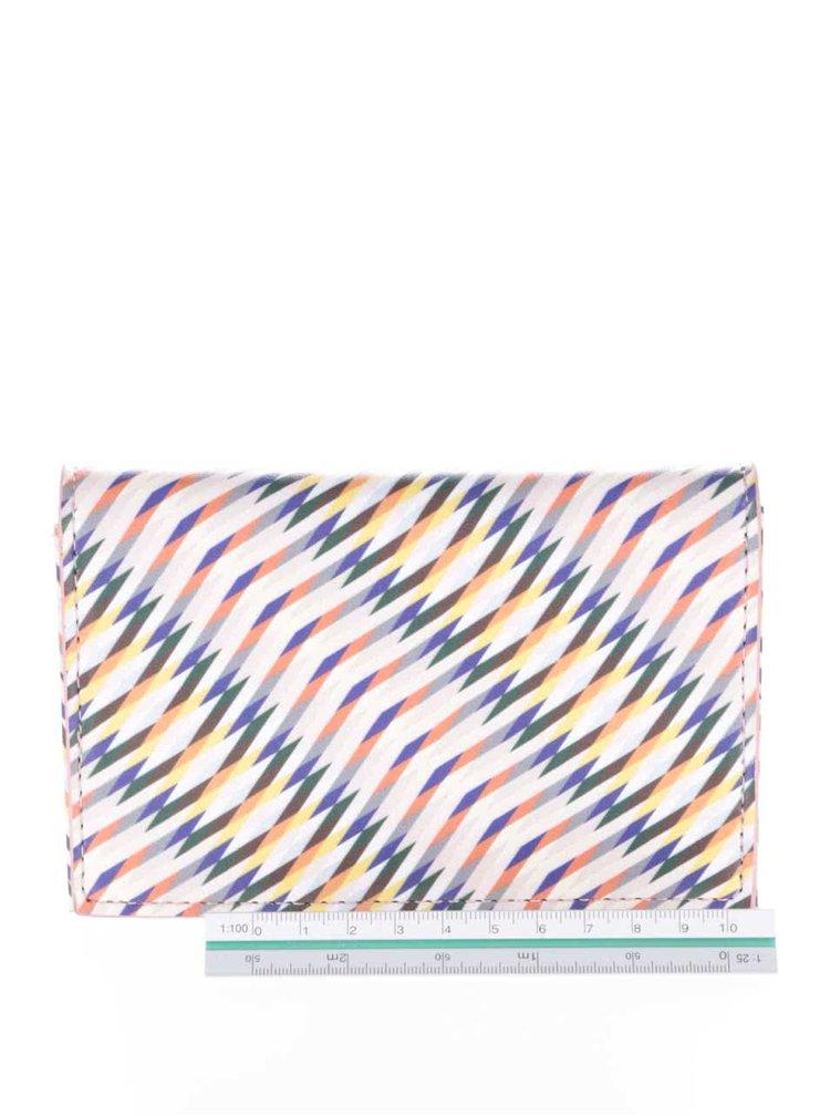 Krémová peňaženka s farebným vzorom LYDC