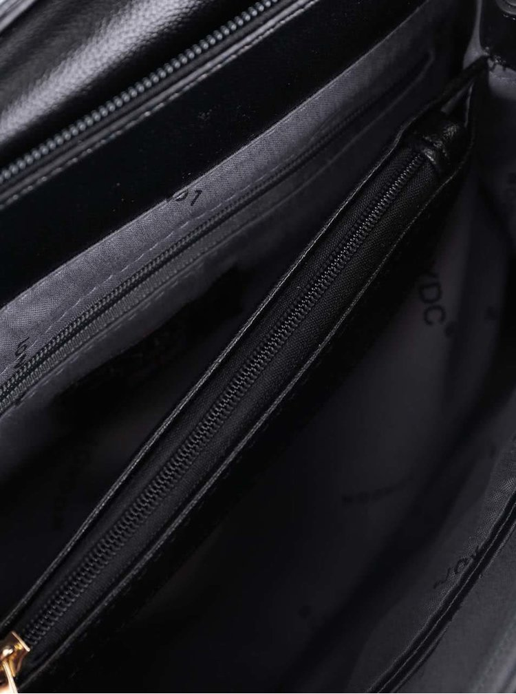 Čierna crossbody kabelka so vzorom LYDC