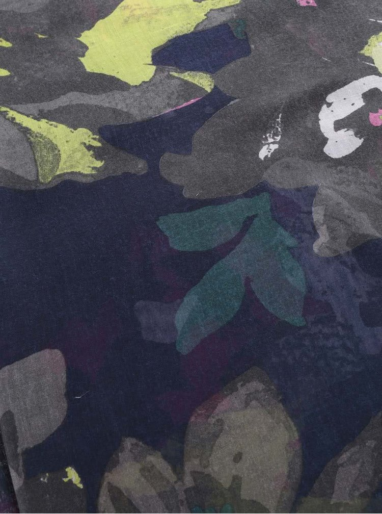Tmavomodrá šatka s kvetovaným vzorom Tom Joule Wensley