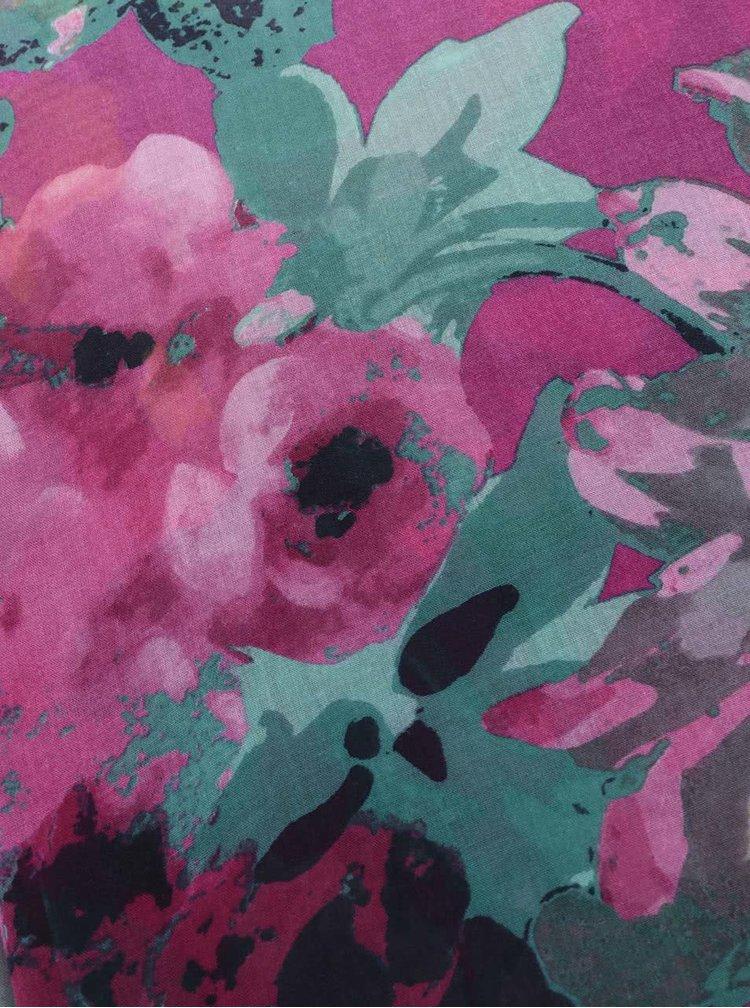 Tmavoružová šatka s kvetovaným vzorom Tom Joule Wensley