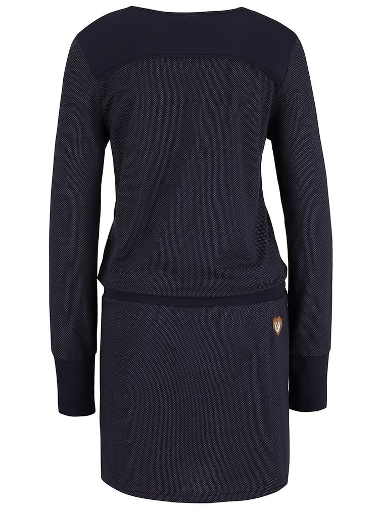 Tmavě modré vzorované šaty Ragwear Mike Organic