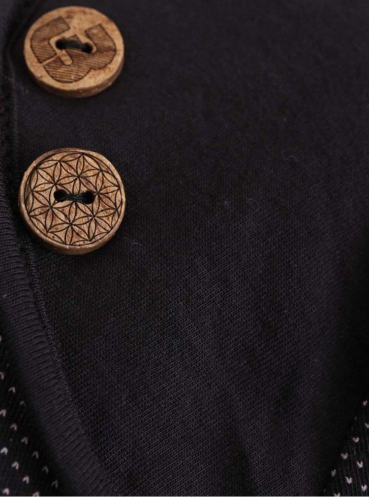 Rochie neagră Ragwear Mike Organic cu șiret în talie