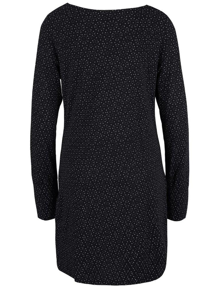 Čierne vzorované šaty s vreckami Ragwear River