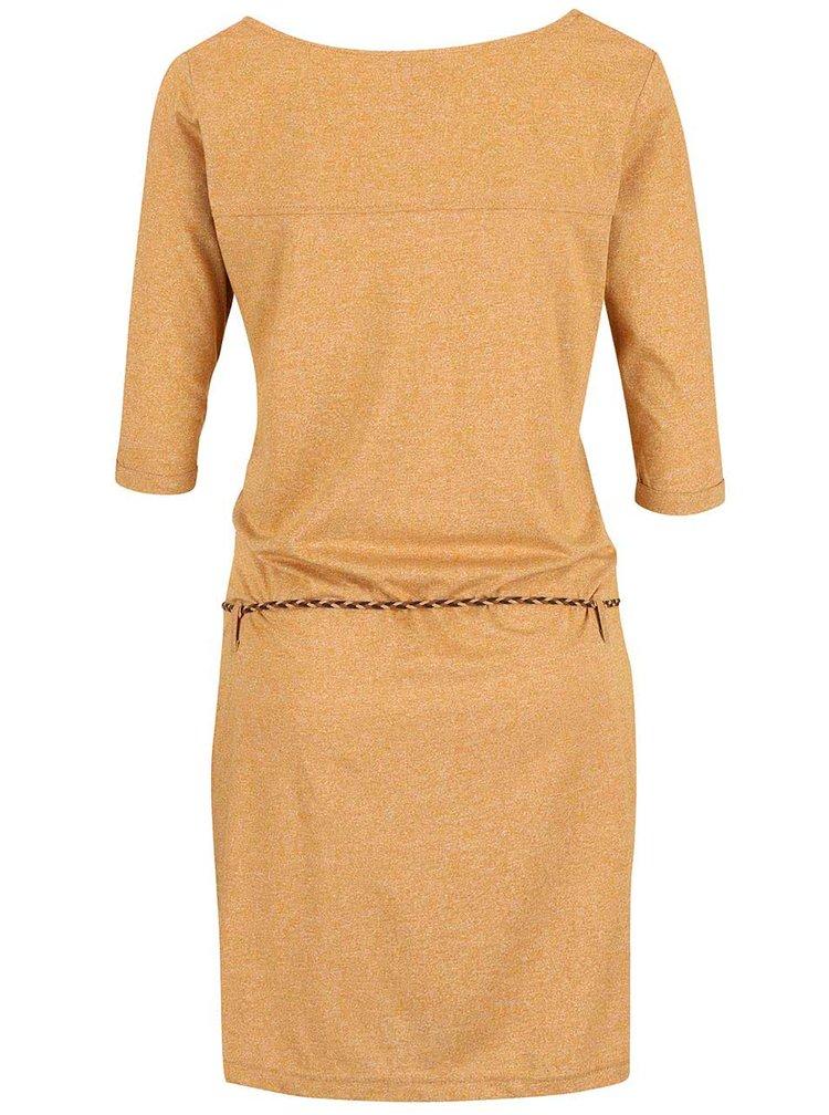 Rochie portocalie Ragwear Tanya Organic cu snur in talie
