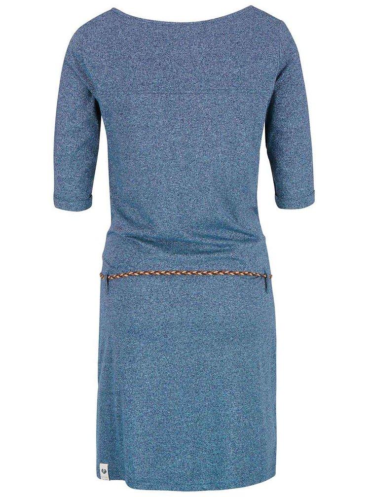 Modré žíhané šaty s páskem Ragwear Tanya Organic