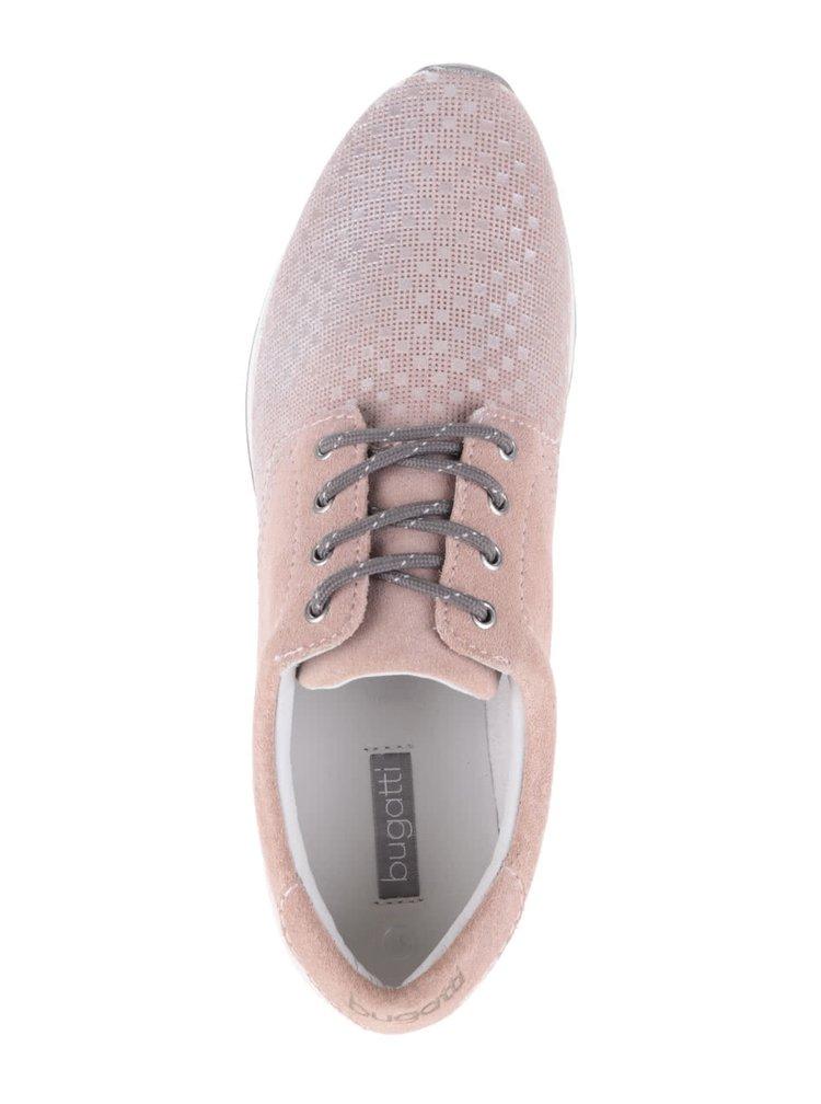 Teniși roz din piele bugatti pentru femei