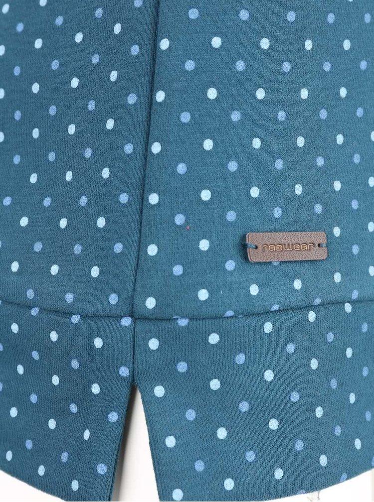 Petrolejová dámská mikina s puntíky Ragwear Kind Dots