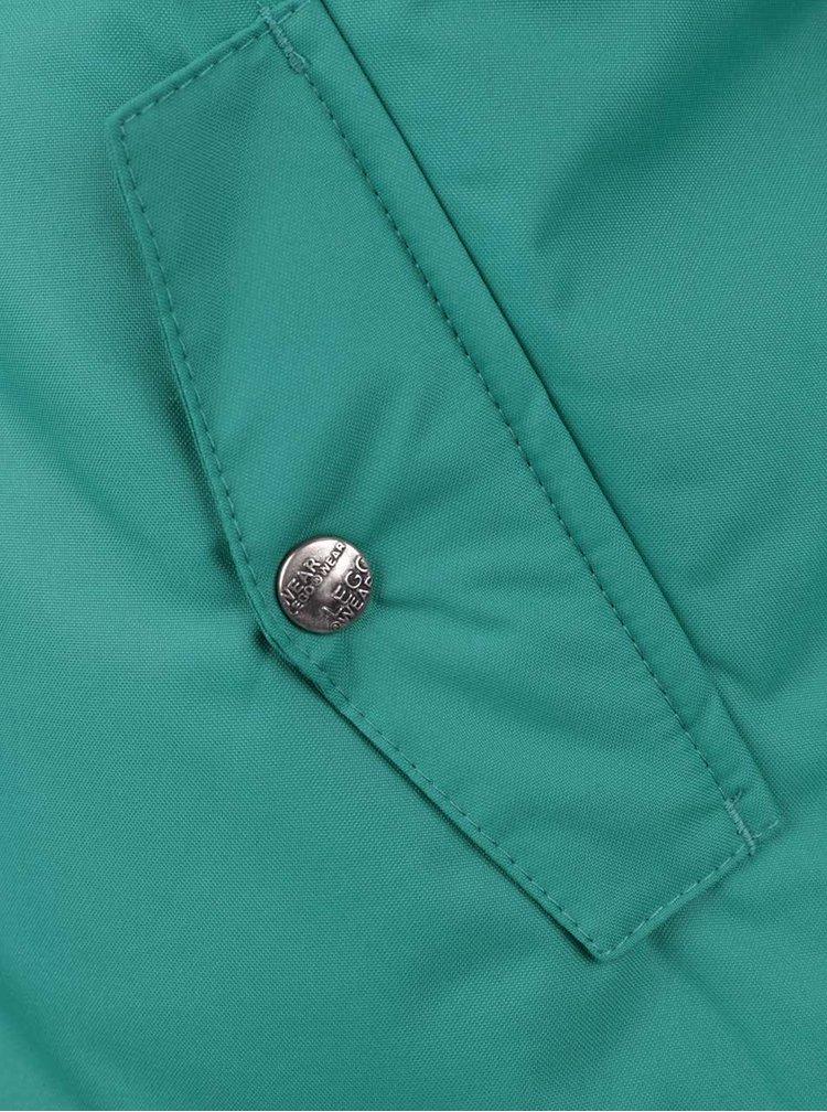 Tmavě zelená klučičí bunda s kapucí LEGO Wear Jadon