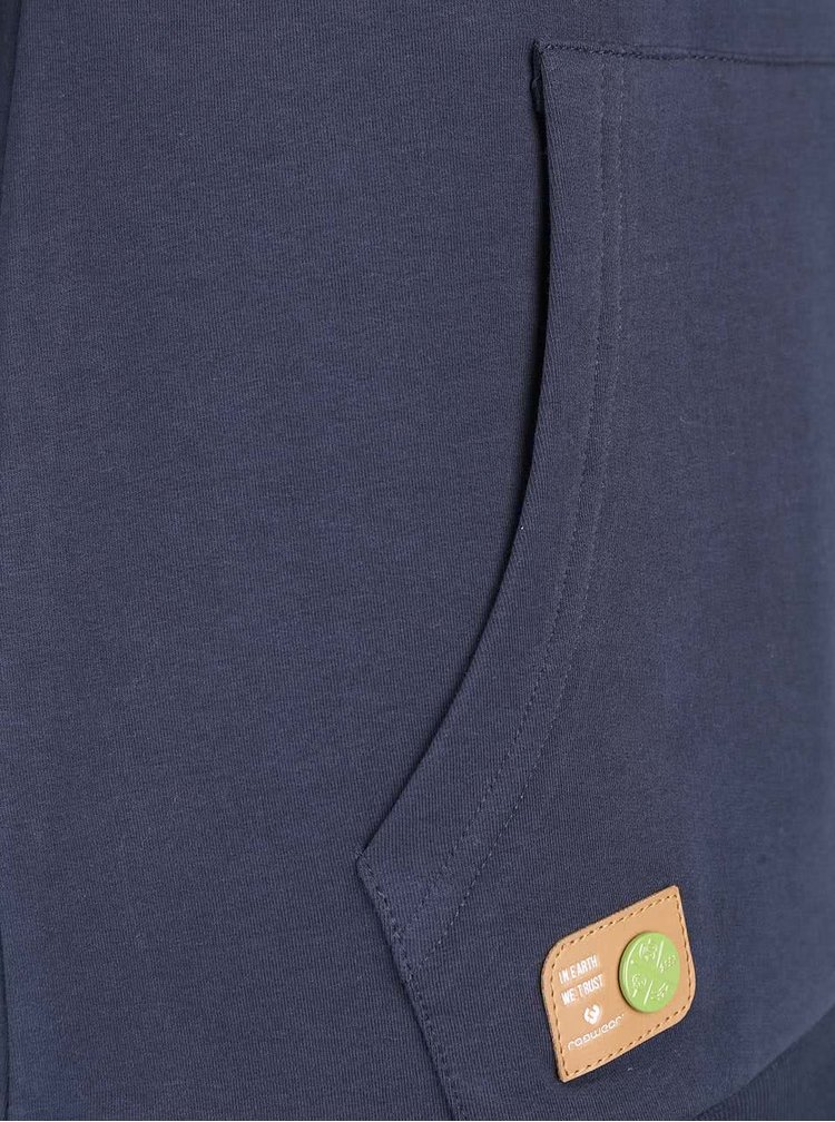 Hanorac albastru Ragwear Sasha Organic cu print