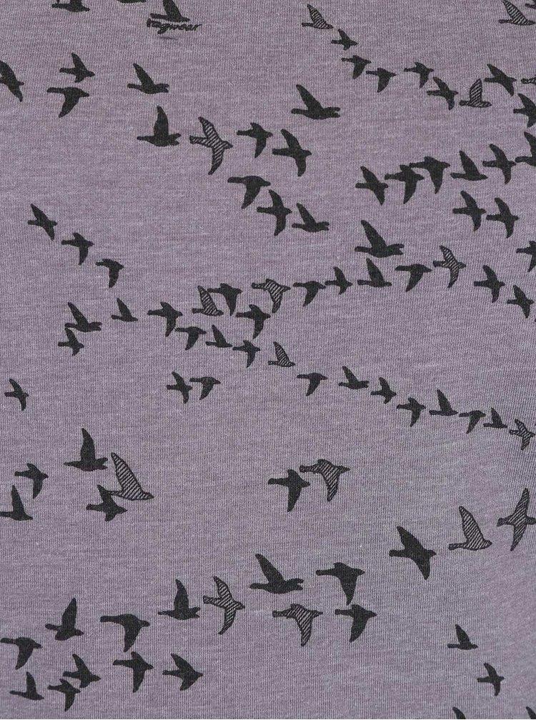 Bluză gri Ragwear Ellie Organic cu imprimeu