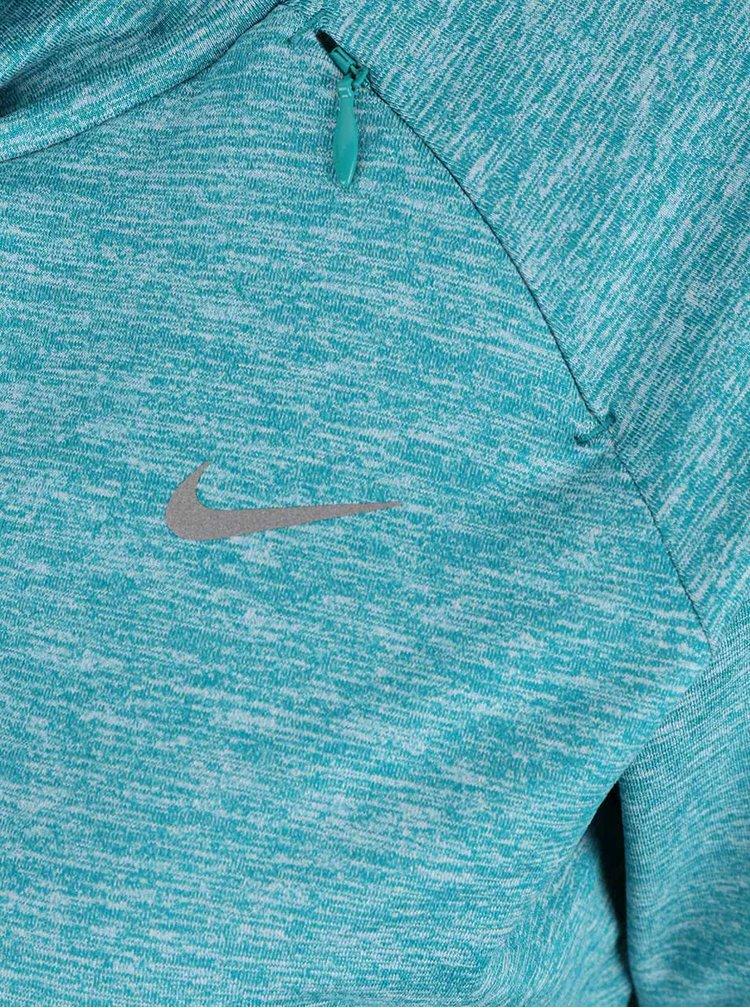 Zelená žíhaná dámská mikina Nike Dry Element