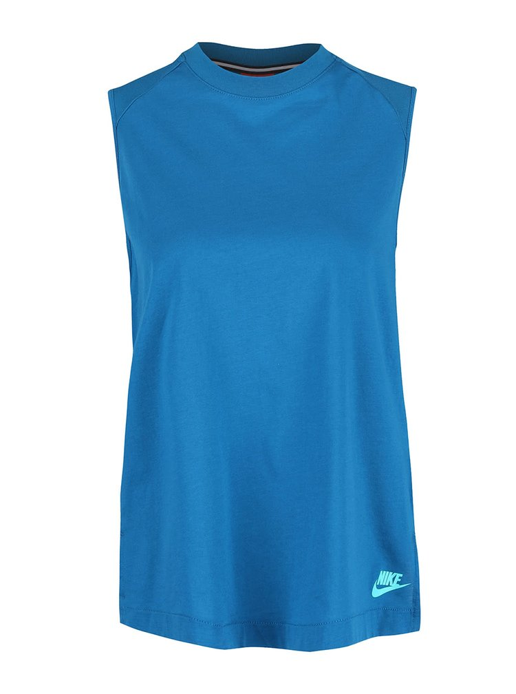 Modrý dámský top Nike Tank Bnd