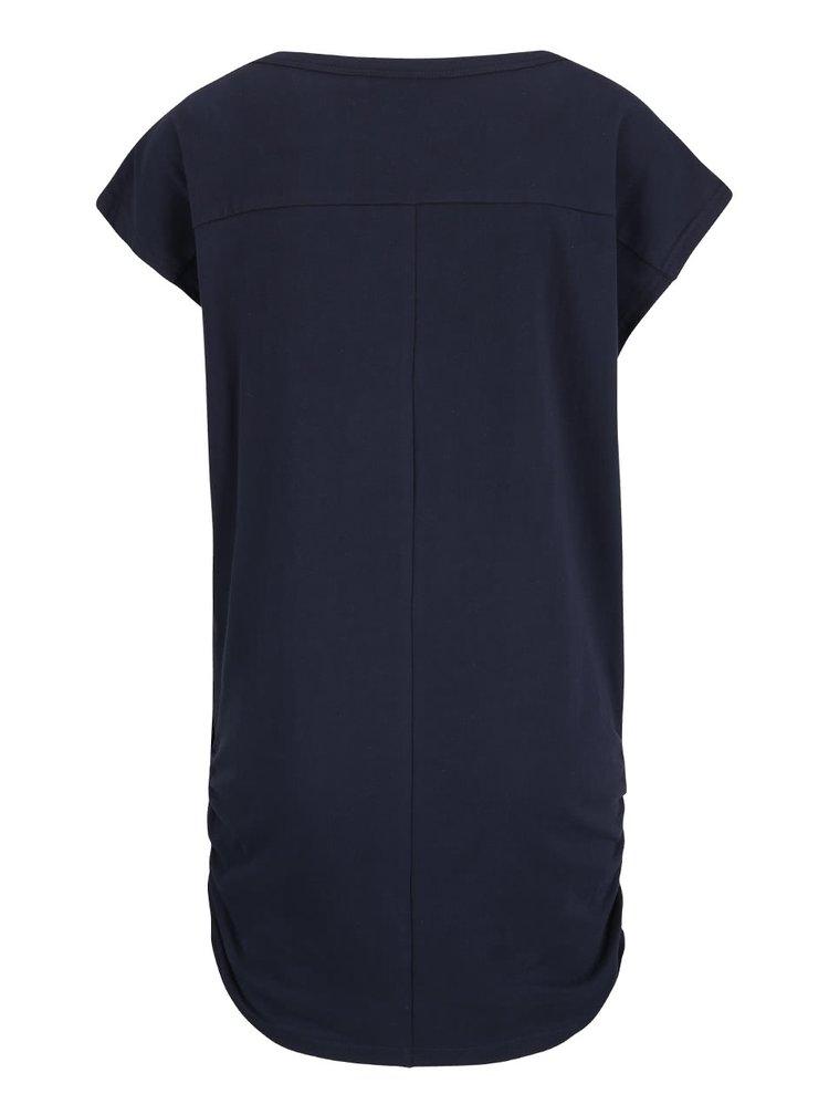 Tmavomodré dlhšie bavlnené dámske tričko Ragwear Coffe Organic