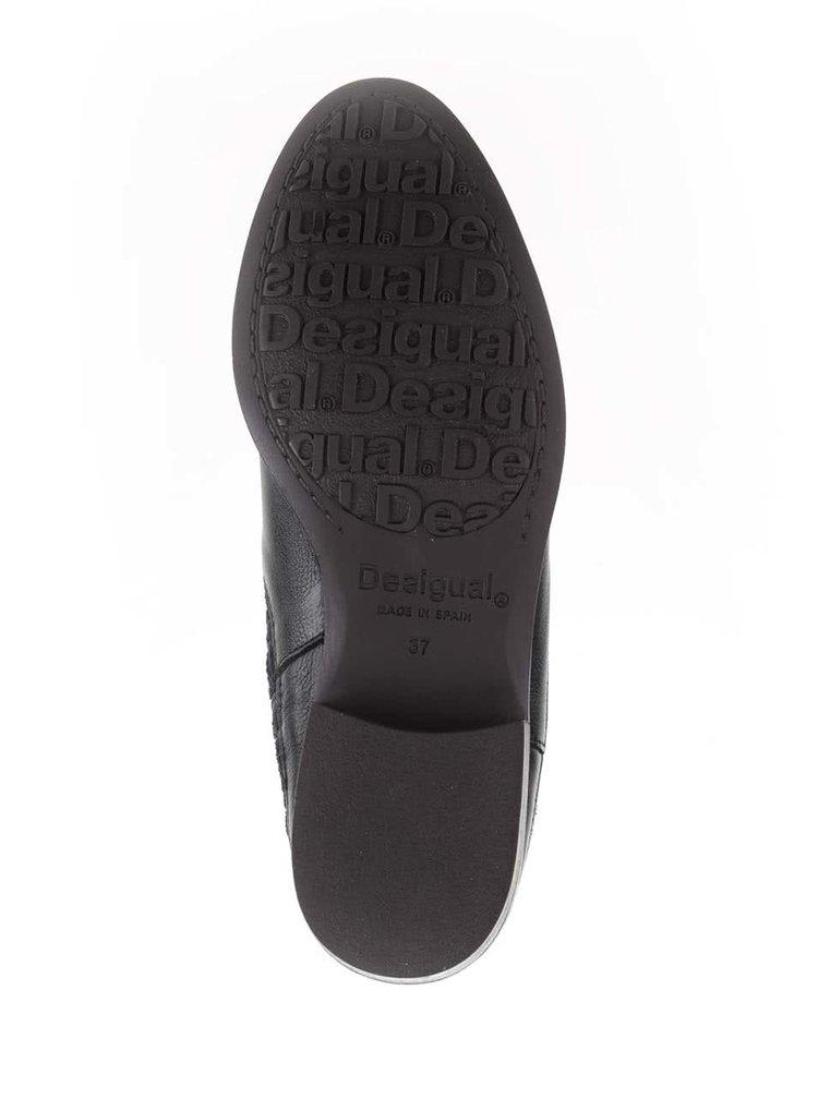 Čierne členkové topánky Desigual Boho